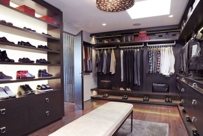 one sided walk in closet