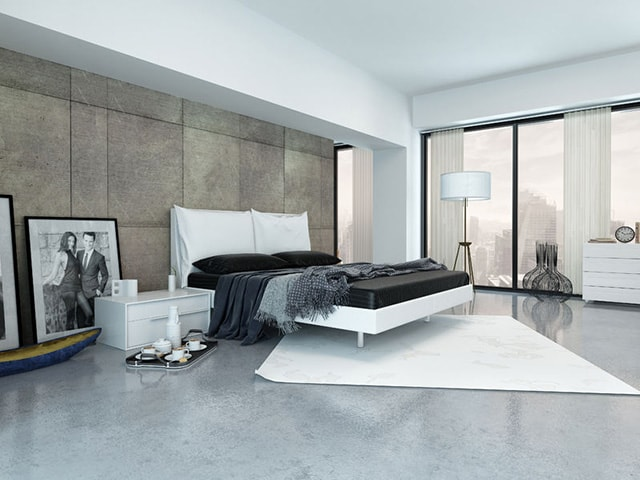 minimalist master bedroom
