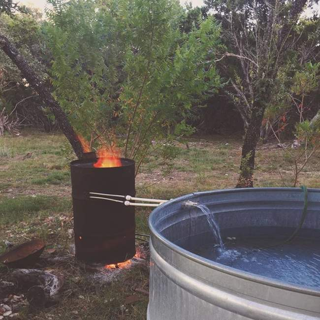homemade stock tank hot tubs