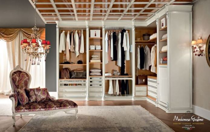 small square walk in closet ideas