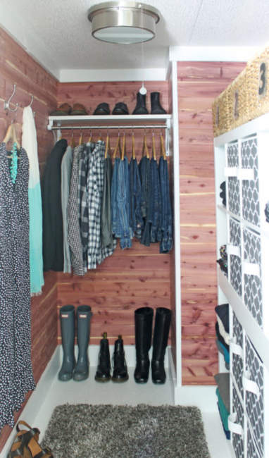 closet layout dimensions