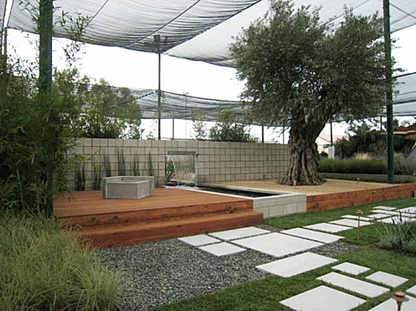 modern landscaping design inspiration for backyard