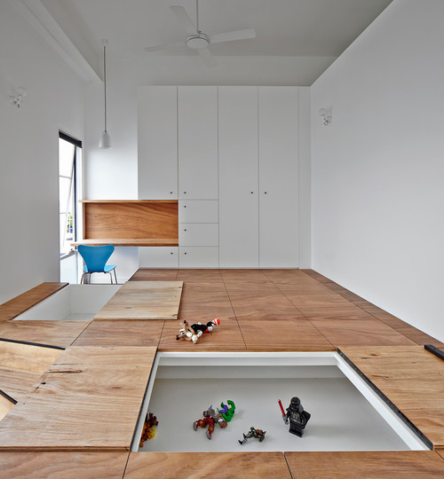 minimalist shelving system