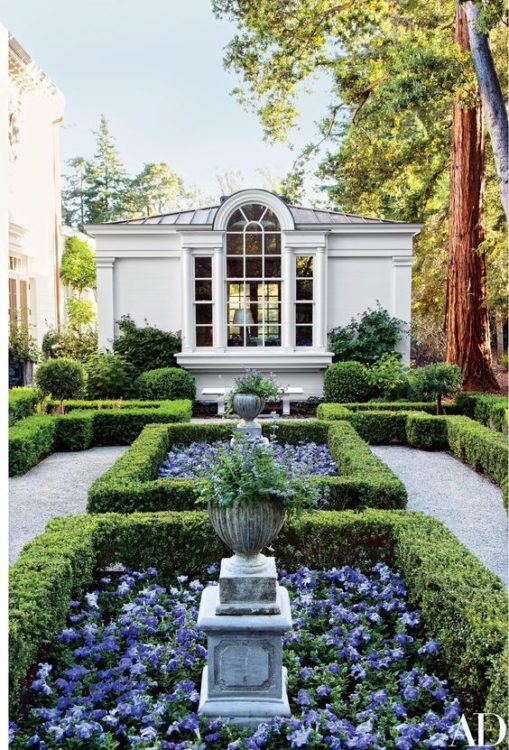 Colonial Revival Backyard Garden Landscape