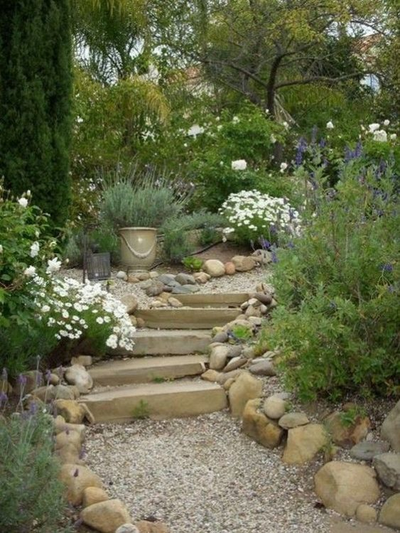 French Meets Greek Backyard Garden Landscape