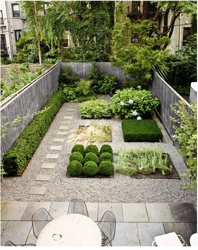 Geometric Backyard Garden Design