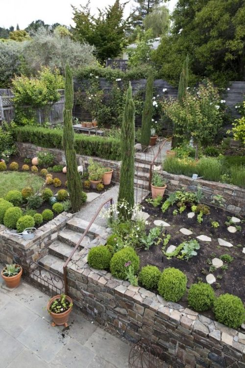 Greek Mediterranean Backyard Garden