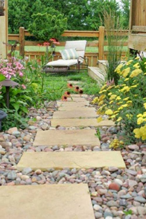 Home Flower Garden Meets Greek Backyard Design
