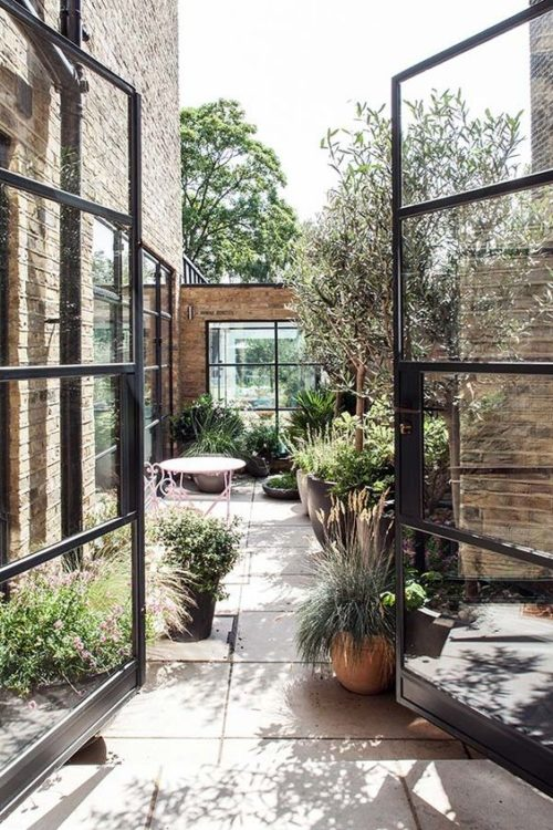 Victorian Contemporary Backyard Garden Landscape