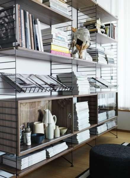 classic minimalistic scandinavian bookshelves