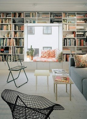 door area scandinavian bookshelves
