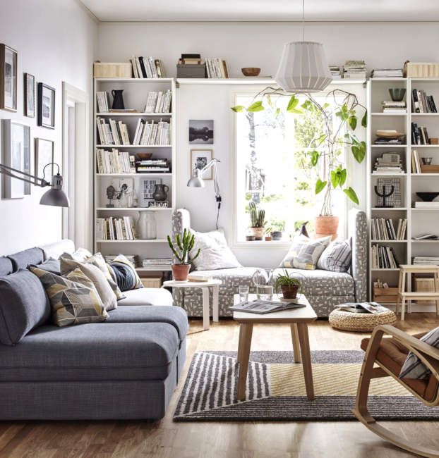eclectic scandinavian bookshelves ideas