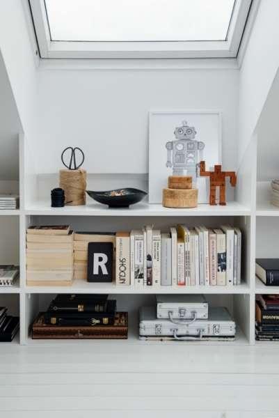 minimalistic scandinavian bookshelves