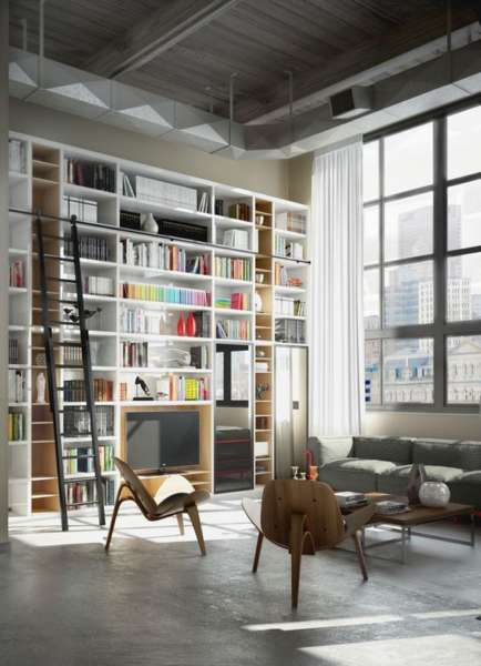 multi functional scandinavian bookshelves