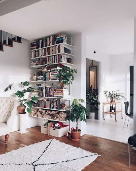 simple scandinavian bookshelves