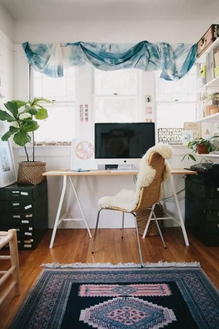 Boho Home Office Style