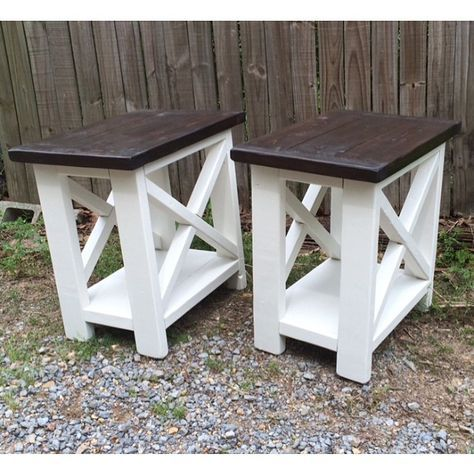 DIY X-Stool Table