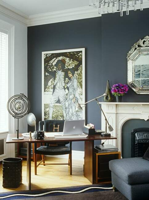 Home Office with Midcentury Style