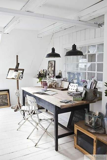 Industrial Style Home Office Ideas