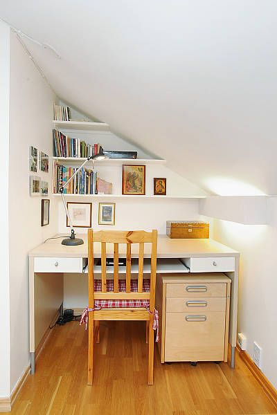 Tiny Under Stairs Home Office Spot