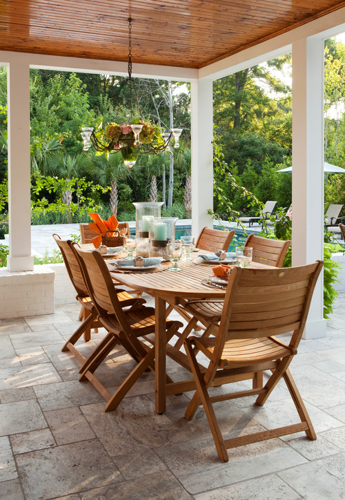 Traditional Patio Teak Furniture