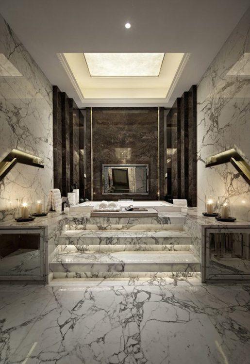 All Marble Luxury Bathroom