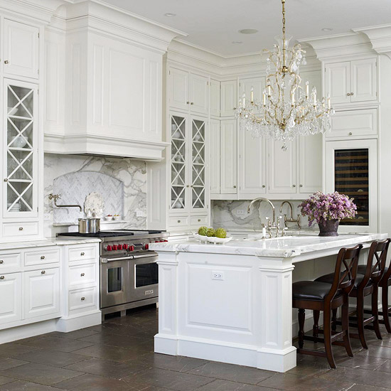 All White Kitchen Cabinets