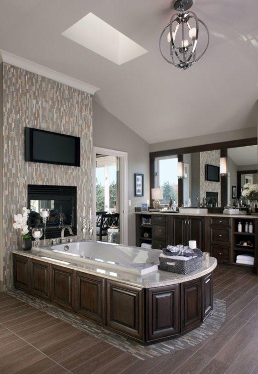 All Wood Luxury Bathroom