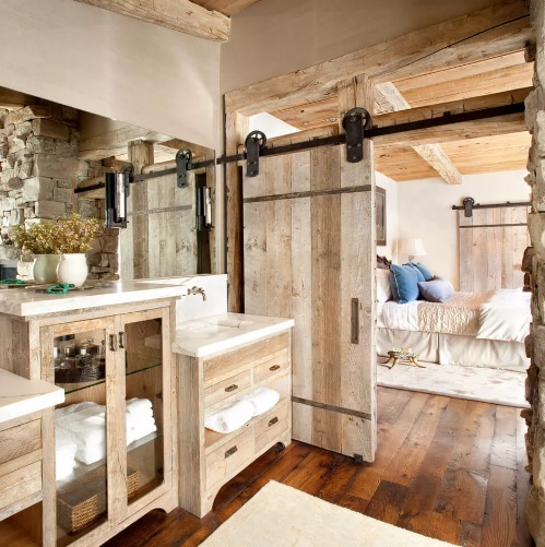 Barn Door Farmhouse Bathroom