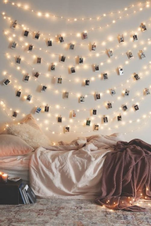 Bedroom Wall DIY String Light