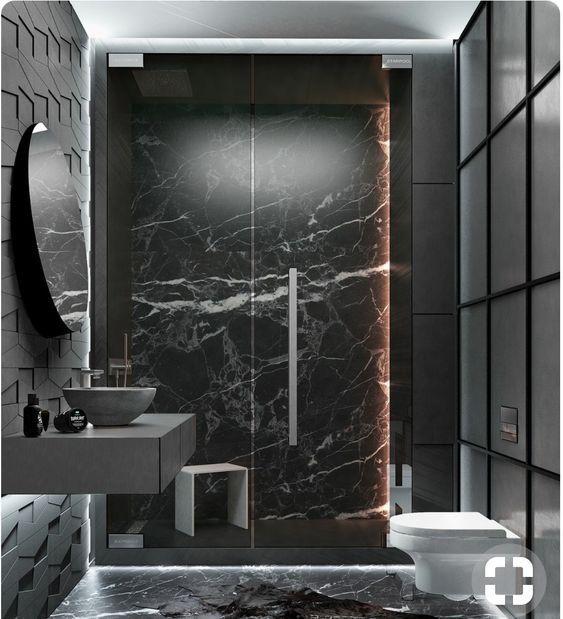 Black Marble Luxury Bathroom