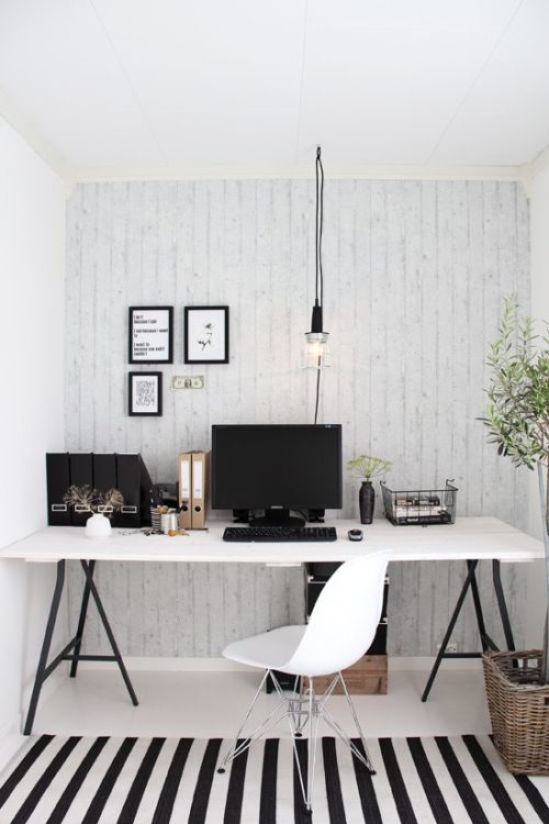 Black and White Modern Desk Ideas