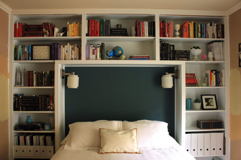 Book Shelves Headboard