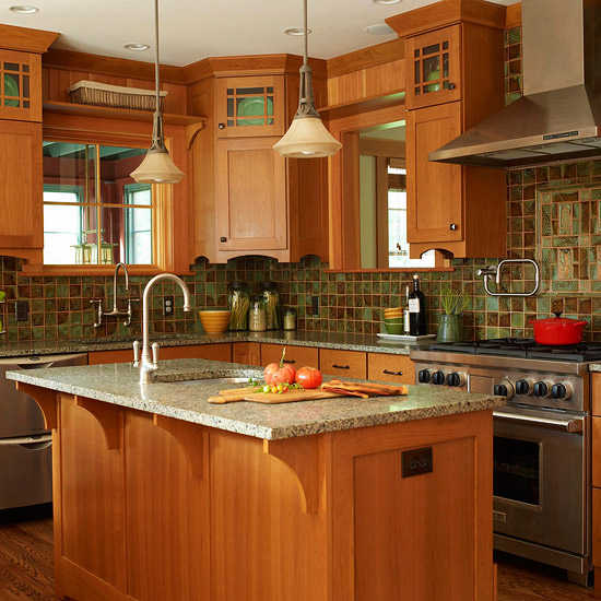 Brown Wood Kitchen Cabinets