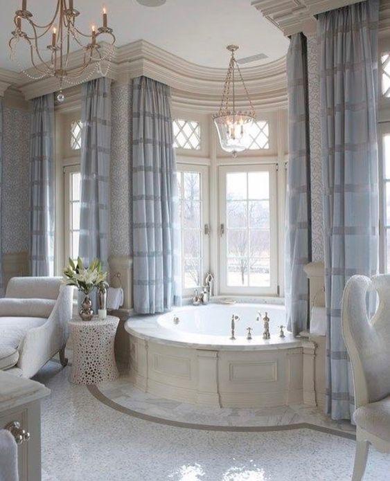 Calm Color Scheme Luxury Bathroom