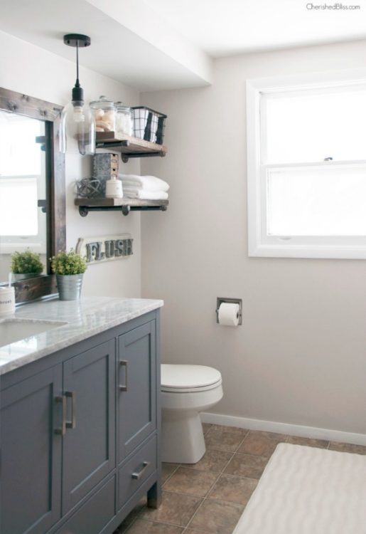 Cherished Bliss Farmhouse Bathroom