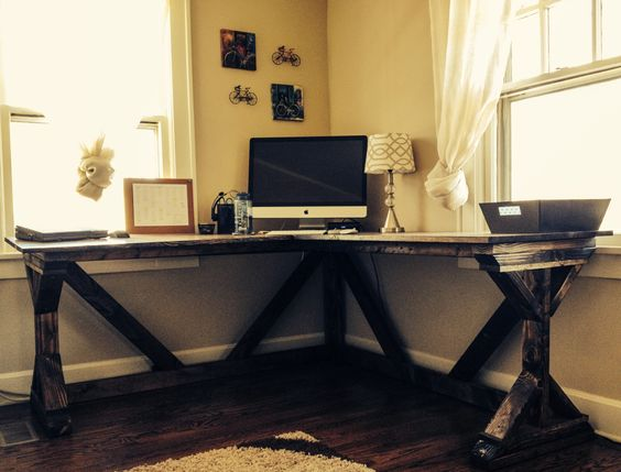 Classic Farmhouse DIY Corner Desk Ideas