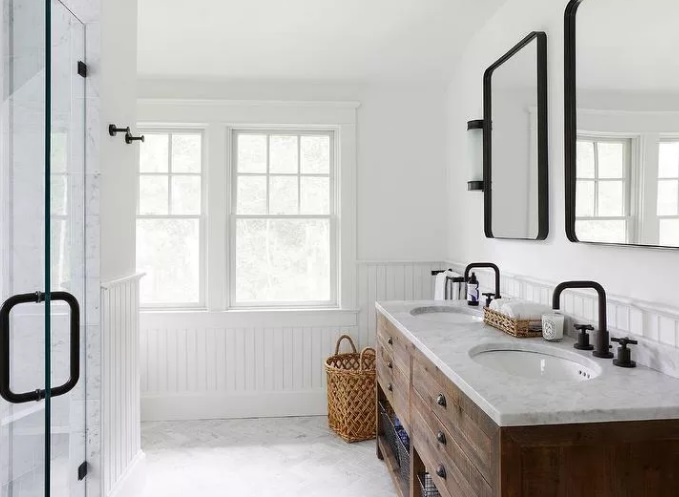 Classic Modern Farmhouse Bathroom