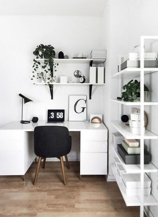 Corner Space Modern Desk Ideas