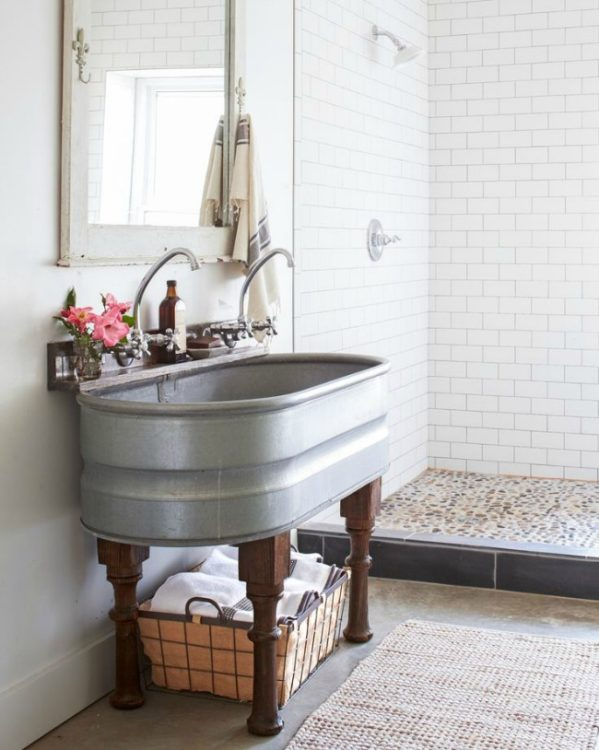 Country Living Farmhouse Bathroom