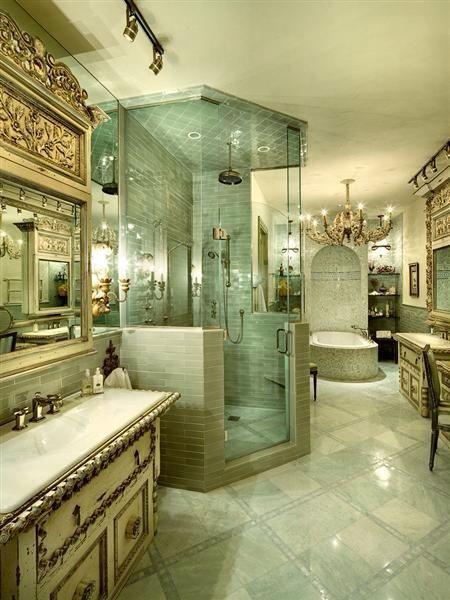 Deep Green Luxury Bathroom