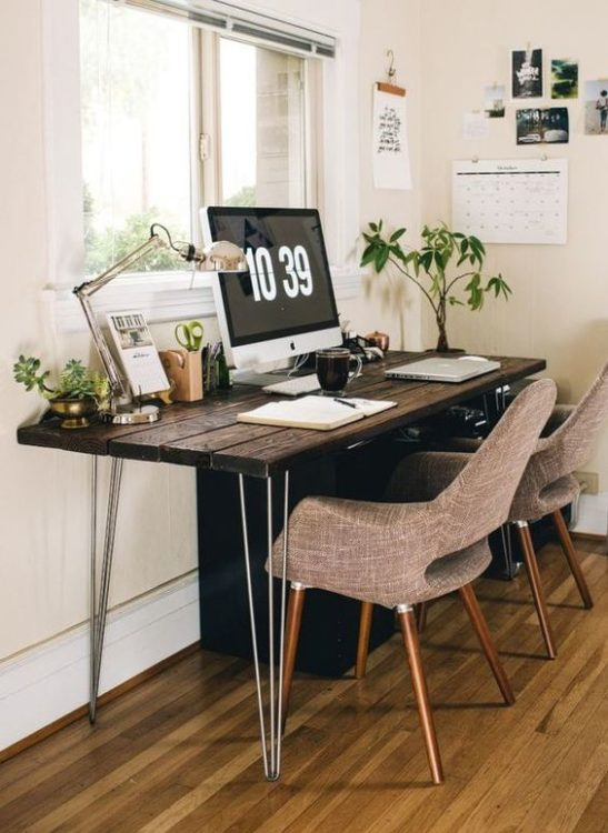 Double Seat Modern Desk Ideas