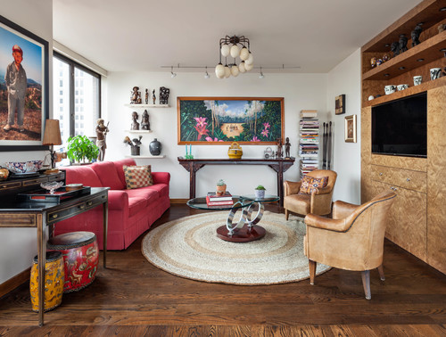 Entertainment Center Eclectic Family Room