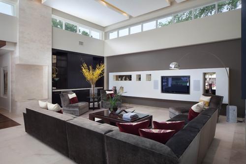 Entertainment Center Modern Living Room
