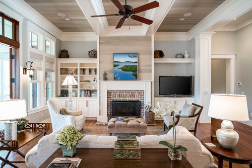Entertainment Center on The Right Fireplace