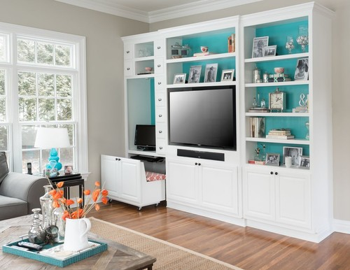 Entertainment Center with Small Office