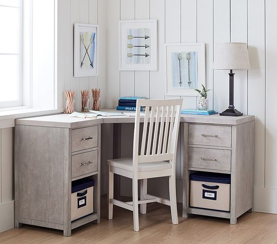 Everett DIY Corner Desk Ideas