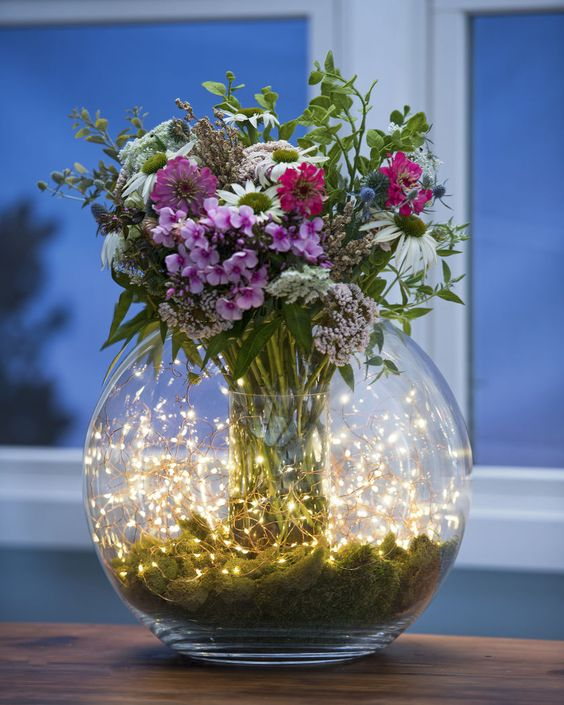 Fish Bowl Flower Pot DIY String Light