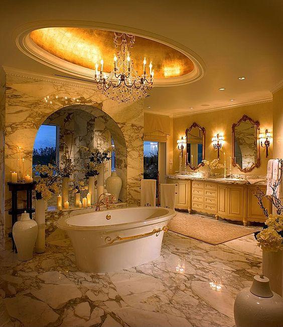 Golden Scheme Luxury Bathroom