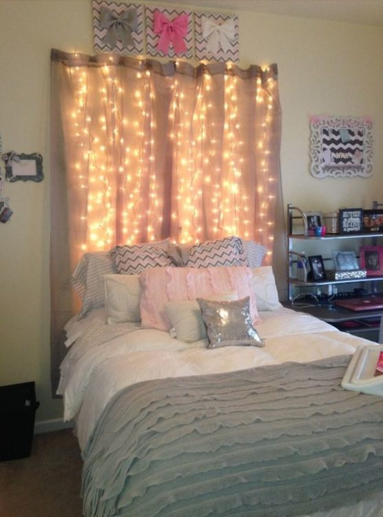 Headboard DIY String Light